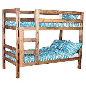 New Canadian made solid wood single/single bunk beds