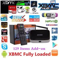 Quad Core Android Boxes 2gb Bluetooth Fully Programmed Warranty