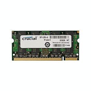 Crucial 2GB DDR2 800MHz MAC Laptop  MEMORY- NEW in pkg
