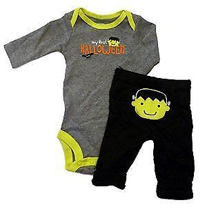 Carters My 1st Halloween long sleeve 2 pc baby set 9Mo Brand New