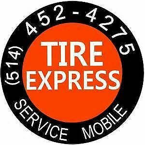 TIREXPRESS.CA 4 ROUES MONTEE SUR JANTE INSTALLEE 35$ West Island Greater Montréal image 1