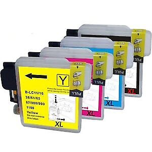 Brother ink cartridge LC 61 set of 4 for all in one printer
