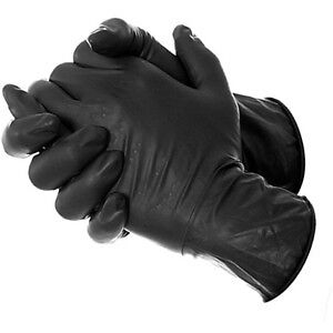 20x  Black Latex Rubber Tattoo Piercing Gloves