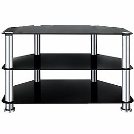 New Black Glass Tv Stand selling for £20