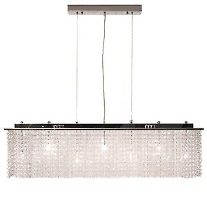 Albright Chateau-R Rectangular Crystal Suspension Chandelier New