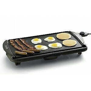 Flat top non-stick electric griddle