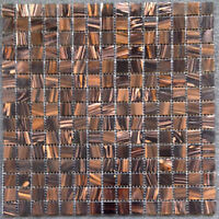 GLASS MOSAIC 1x1 Copper  Backsplash  $7.99 Sheet 50% OFF