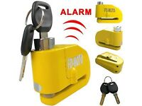 Brand new motorbike security disc lock alarm no chain