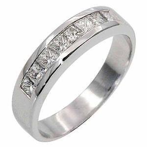 18K White Gold Mens Ring