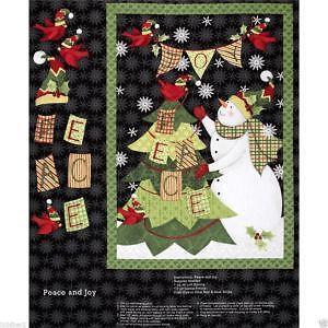 Christmas Fabric Panels Ebay