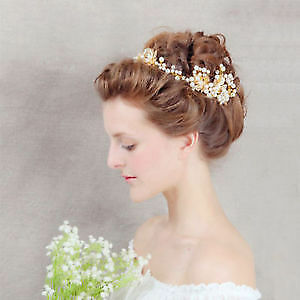 Luxury Wedding Headband - Stunning details! Gold color!!