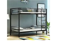 ☀️☀️BRAND NEW☀️☀️ SINGLE WHITE METAL BUNK BED WITH MATTRESS OPTION AVAILABLE