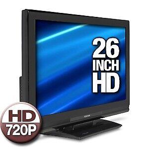 Toshiba 26 inch TV LCD, HDMI Panasonic DVD and VHS Tape Player