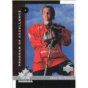 BRAD RICHARDS ... ONLY ROOKIE CARD ... 1997-98 Upper Deck hockey