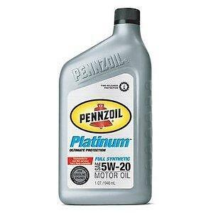 Pennzoil 5w20 Pennzoil Platinum Full Synthetic 5w20 Motor
