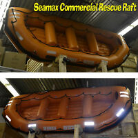 SEAMAX 14 ft SB430 - ORANGE HEAVY DUTY WATER RIVER RAFT.