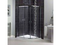 Aqualux shower enclosure with tray