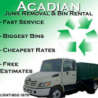 Bin Rental $99 for 4-14 Yards!! Call 647 802 1876!!!!