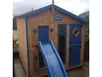Children's Wooden Playhouse for sale . Immaculate Condition. Size 8X6. Cost to purchase new £1,025