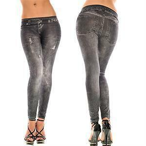 Brand New Fake Jeans Spandex Tights Leggings - Size M/L