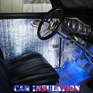 car insulation 38 sqft thermal sound deadener block automotive heat sound ebay. Black Bedroom Furniture Sets. Home Design Ideas