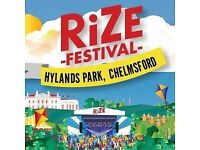 RiZE festival 3 night weekend camping