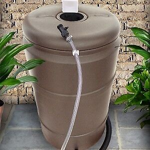 Grey Rain Barrel
