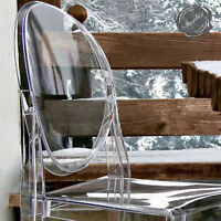 victoria ghost chairs, chaise ghost victoria, transparent chairs