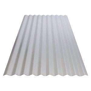 Corrugated steel or plastic roofing