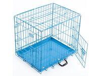 Large Dog Crate Blue
