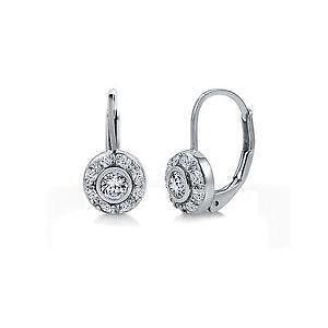 Sterling Silver Leverback Earrings