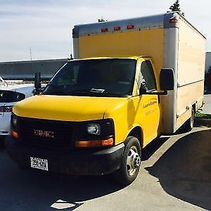 16 foot CUBE VAN AVAILABLE WITH 3 GUYS FOR HIRE RENT