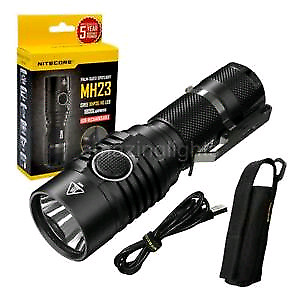 Nitecore MH23 LED flashlight with nitecore i4 charger