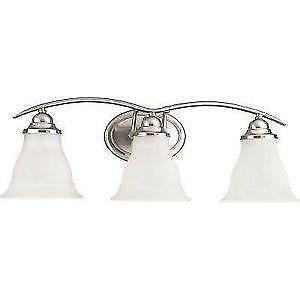 Bathroom lighting ebay bathroom lighting brushed nickel aloadofball Images