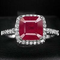 Ruby Ring & Earrings In 925 Silver + Titanium Steel CZ Ring Sz6 Ottawa Ottawa / Gatineau Area Preview