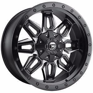 "BRAND NEW Fuel ""Neutron"" D591 20"" Rims Black/Milled Ford Chevy GMC $1389/set!"