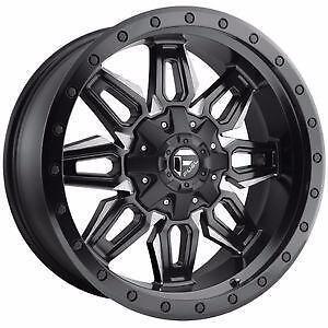 "BRAND NEW Fuel ""Neutron"" D591 20"" Rims Black/Milled Ford Chevy GMC $1389/set!"