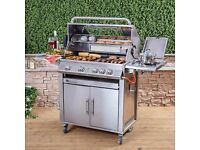 FIRE MOUNTAIN Premier Stainless Steel 4 Burner Gas Barbecue EX DISPLAY ONLY £250!!