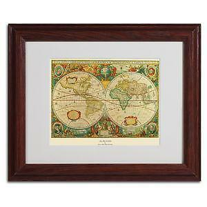 Framed World Map Ebay