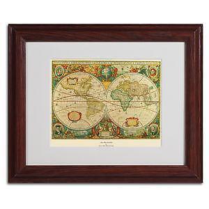 Framed world map ebay old world map framed gumiabroncs Gallery