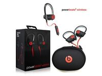 Beats by Dr Dre Powerbeats 2 **Brand New**, Wireless Black and Red Power Beats