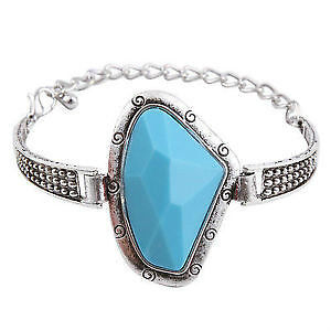 GORGEOUS SILVER TURQUOISE BRACELET- NICE VALENTINES GIFT