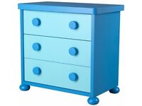 excellent condition blue chest of drawers