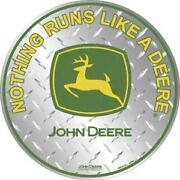 John Deere Tin Sign