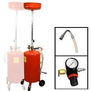 Videngeur d'huile 20 gallons sur roulettes, se vide à l'air