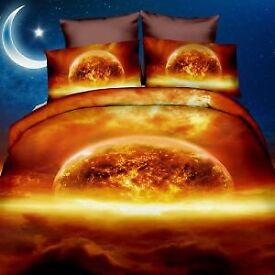 SPACE duvet cover with pillowcases