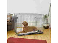 Dog crate -Large - hardly used. 2 door. double lock on each door. easy clean good condition