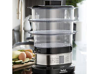Tefal Minicompact Steamer (VC135215) - Stacking 3-Tier Electric Steamer
