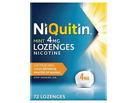 Brand new pack of NIQUITIN/nicotine 72 LOZENGES for sale-from a smoke&pet free house