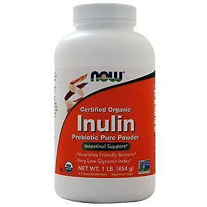 NOW Foods Inulin Prebiotic Pure Powder, Organic, 1 lb.